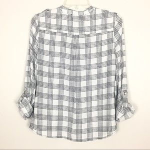 The Limited Tops - The Limited Outlet Black White Window Pane Top S